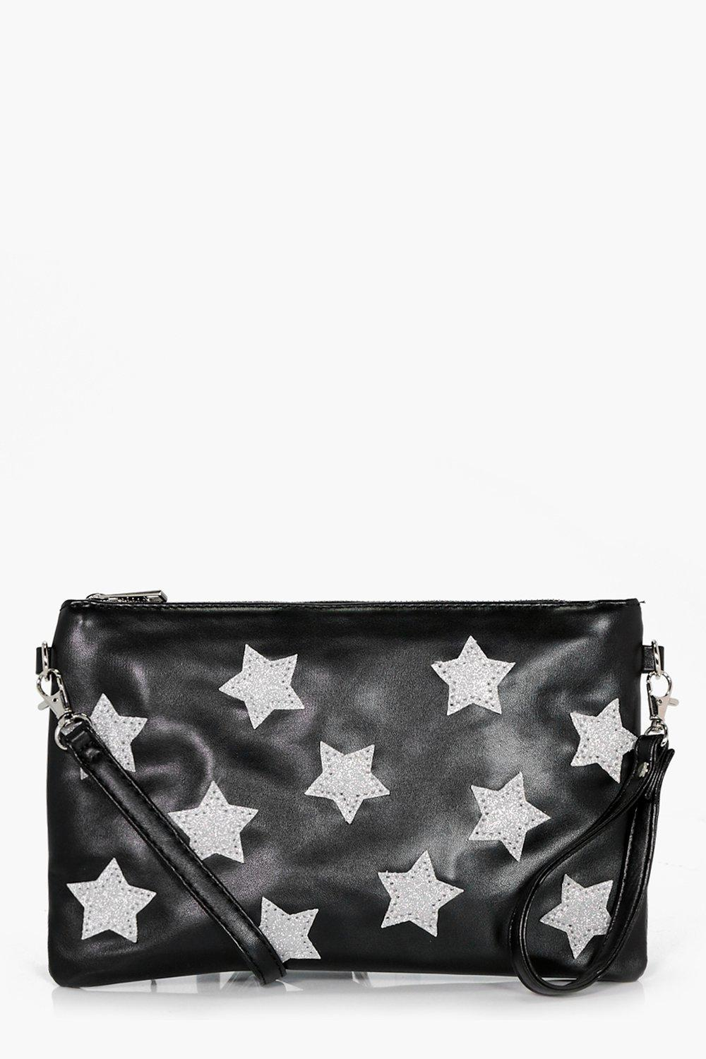 All Over Star Cross Body Bag - black - Florence Al