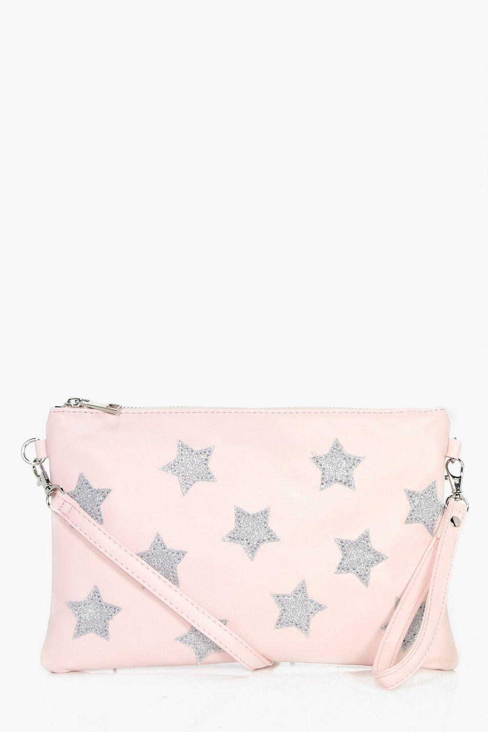 All Over Star Cross Body Bag - nude - Florence All