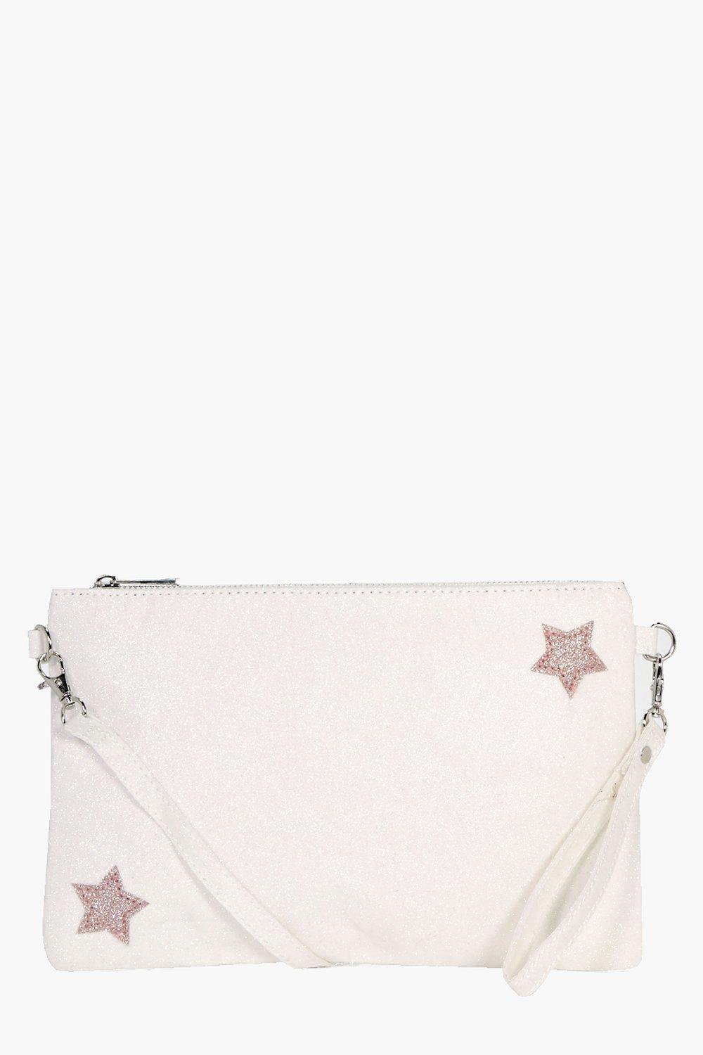 Glitter Star Clutch - white - Hannah Glitter Star