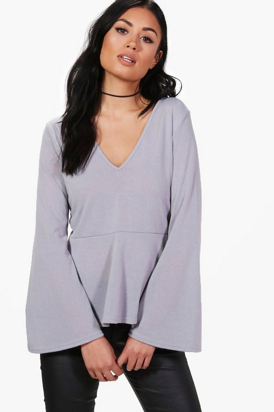 Erica Fine Knit Wide Sleeve Jumper