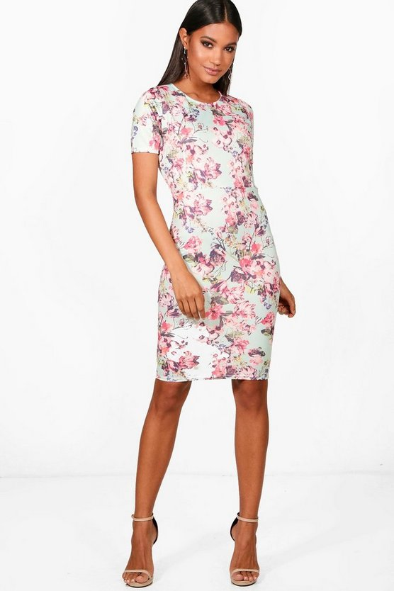 Aimee Pastel Floral Print Dress