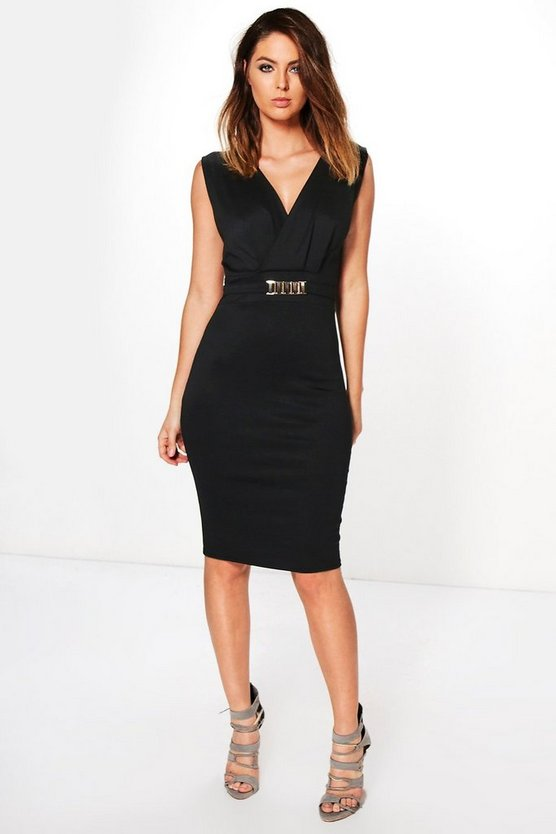 Laura Belted Tailored Dress
