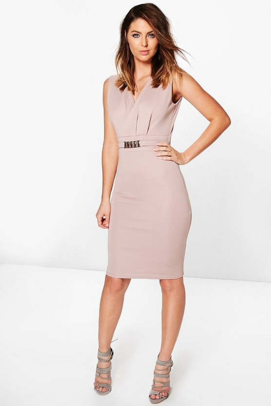 Belted Tailored Dress