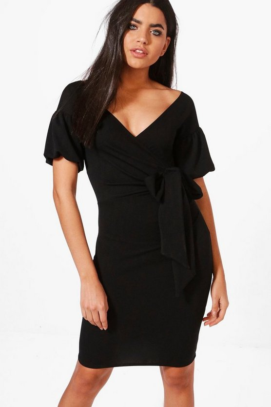 Shayna Puff Sleeve Bodycon Dress