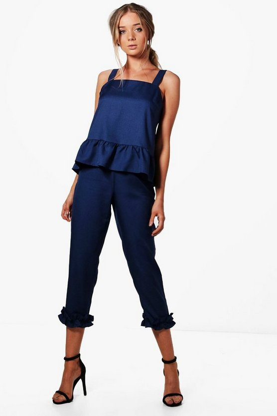 Lizzie Frill Detail Tailored Trouser
