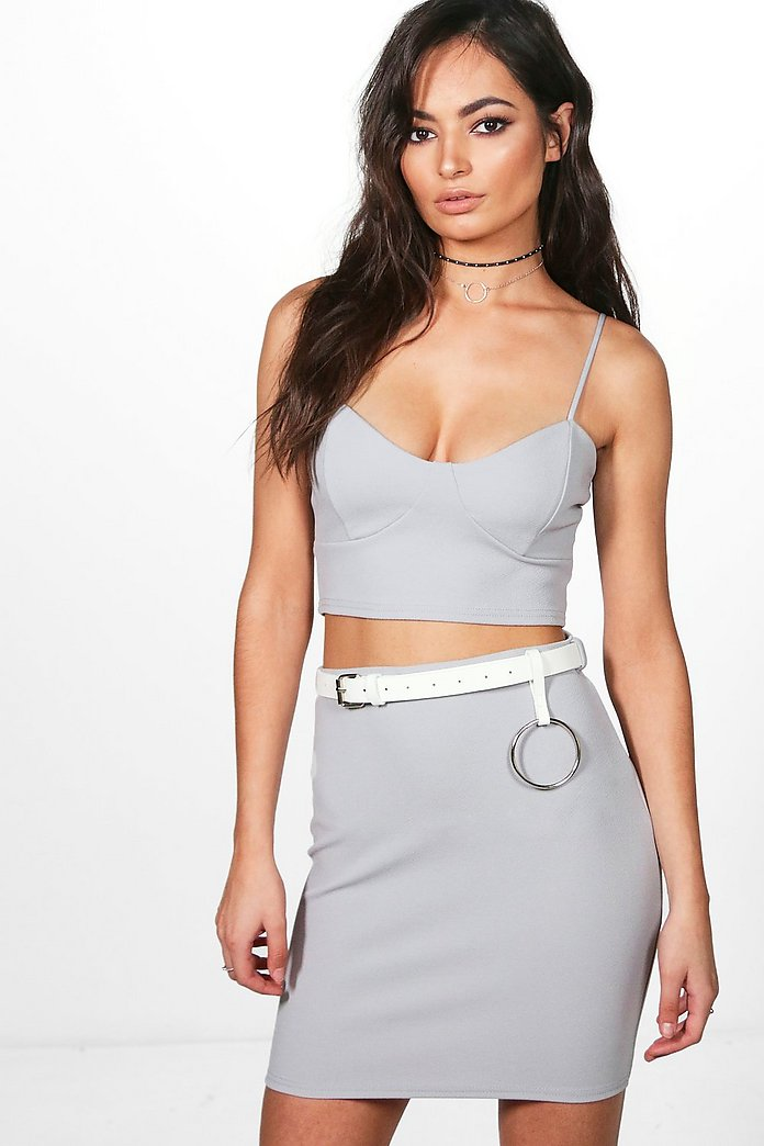 Lucie 3PC Bralet O Belt & Mini Skirt Co-Ord Set