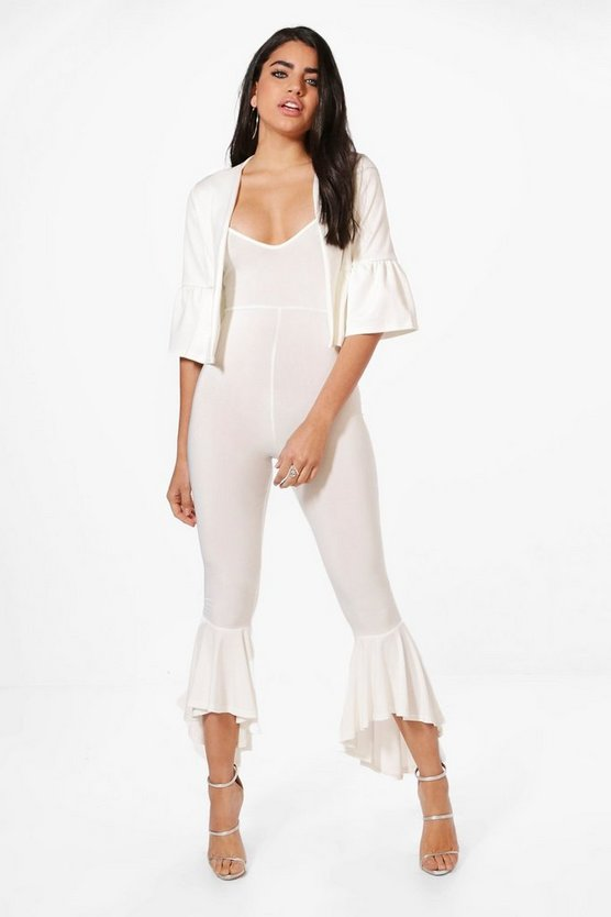 Becky Frill Hem Jumpsuit & Crop Jacket Co-Ord Set