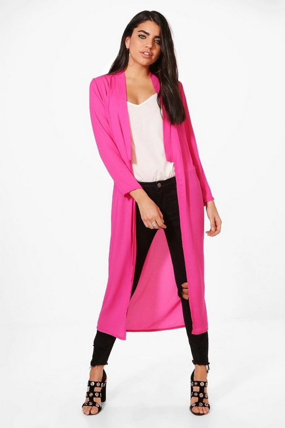 Isabelle Step Collar Lightweight Duster