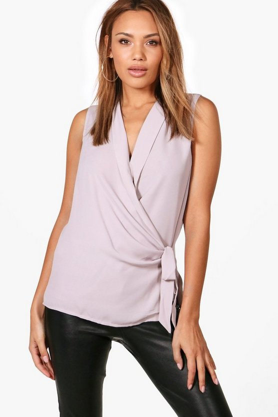 Willow Wrap Tie Blouse