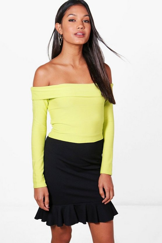 Lucy Bandage Off The Shoulder Crop