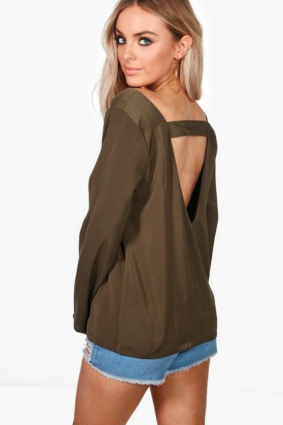 Esme Open Back Detail Blouse