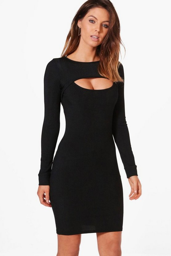 Jenny Chest Cut Out Bodycon Dress