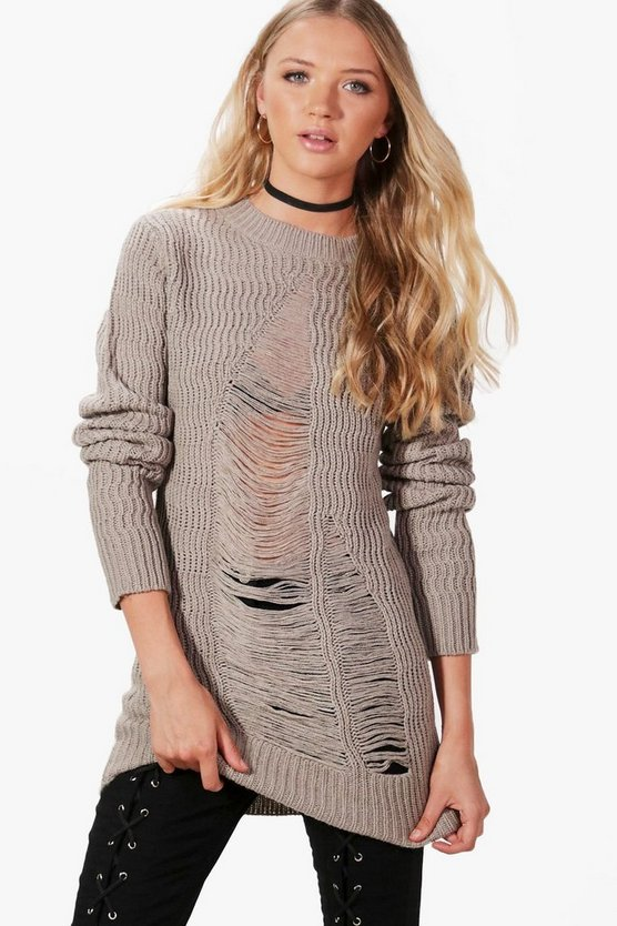 Jasmine Distressed Jumper