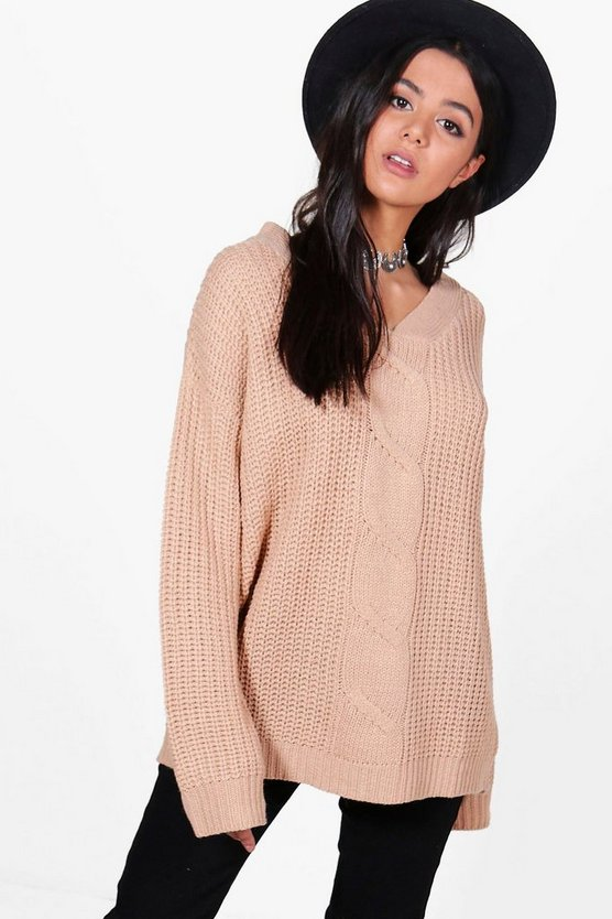 Karina Slouchy Cable Jumper