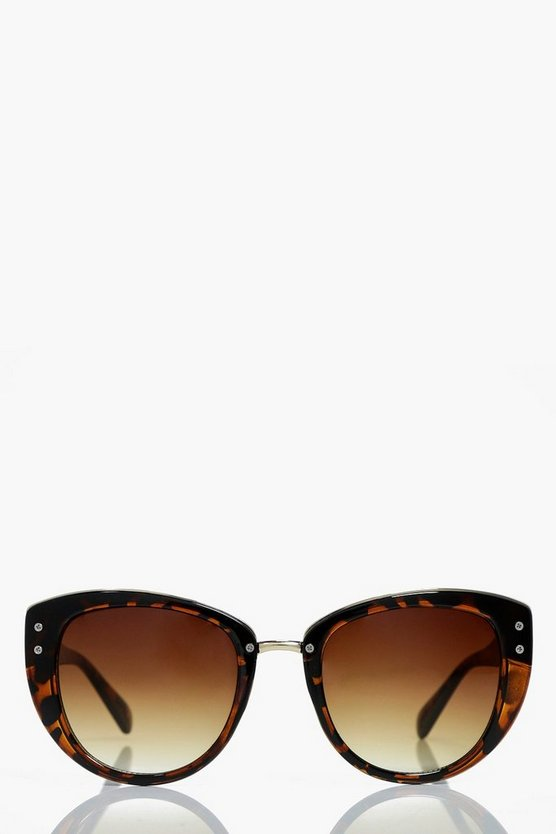 Hollie Tortoise Cat Eye Fashion Glasses