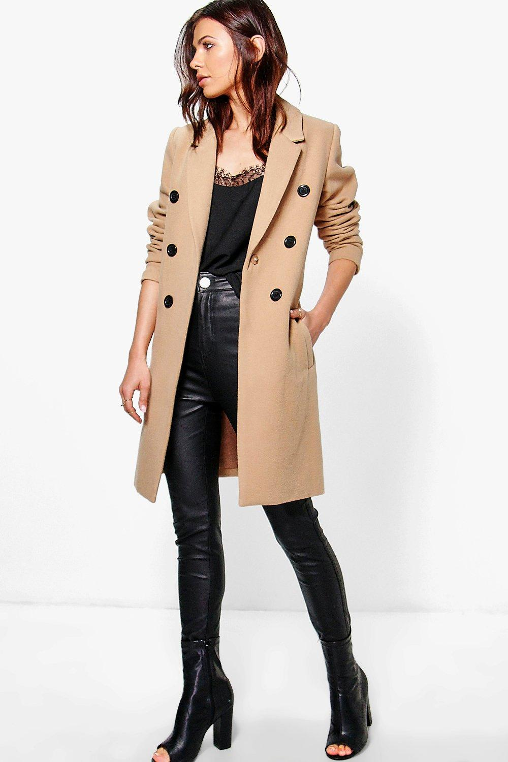 Double Breasted Coat - camel