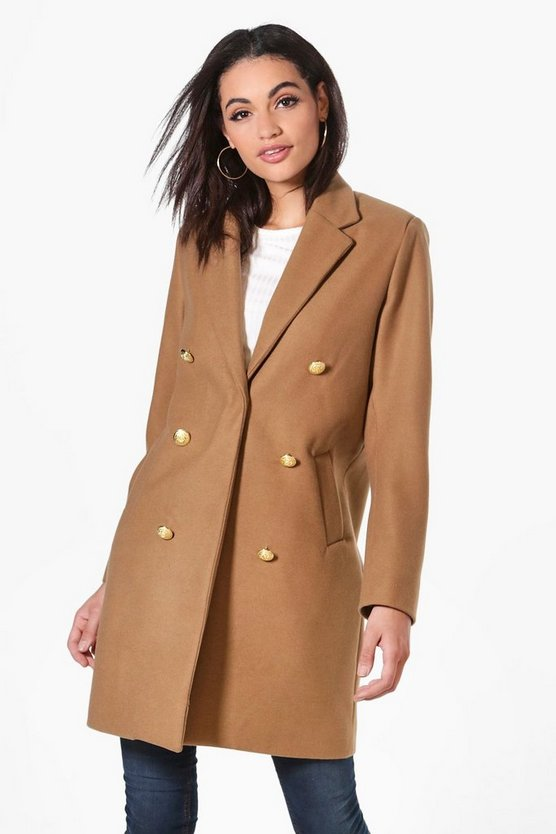 Natalie Military Double Breasted Coat