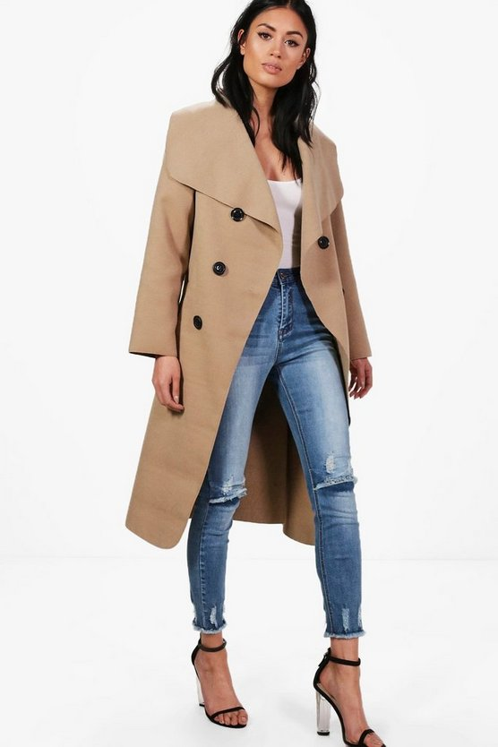 Jessica Double Breasted Wool Look Coat