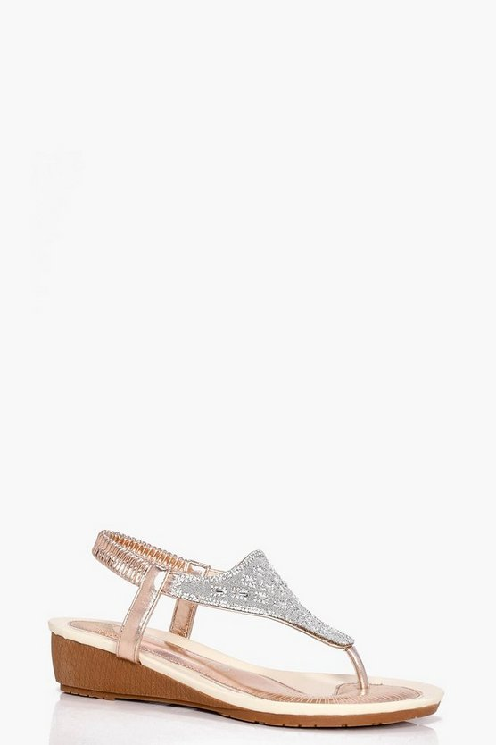 Olivia Diamante Toe Part Wedge