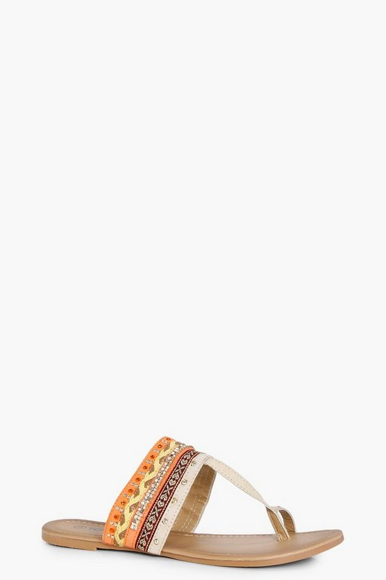 Alice Mixed Print Toe Part Sandal