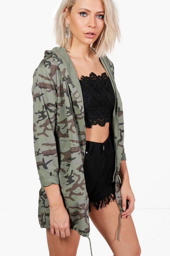 Phoebe Washed Camo Festival Jacket