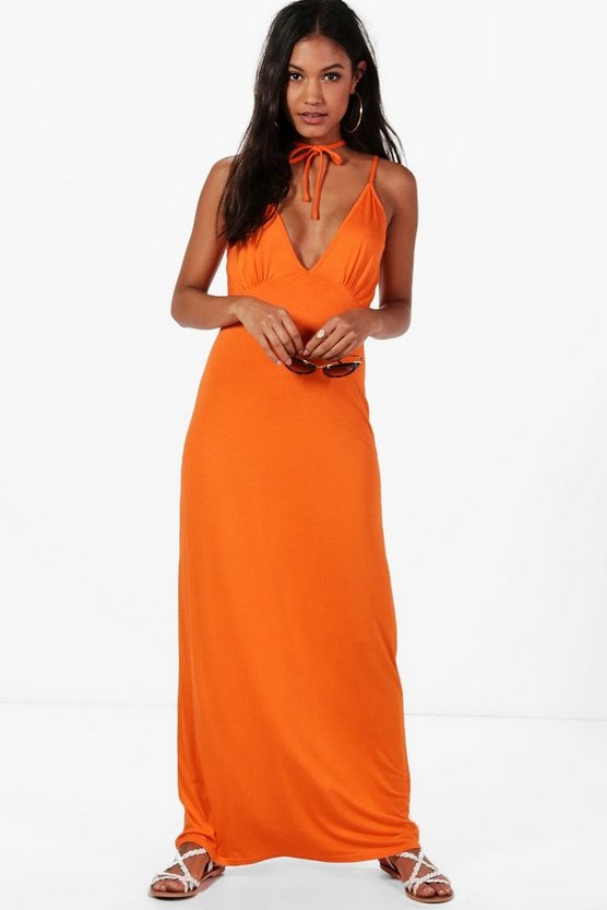 Kaie Hexagon Strap Maxi Dress