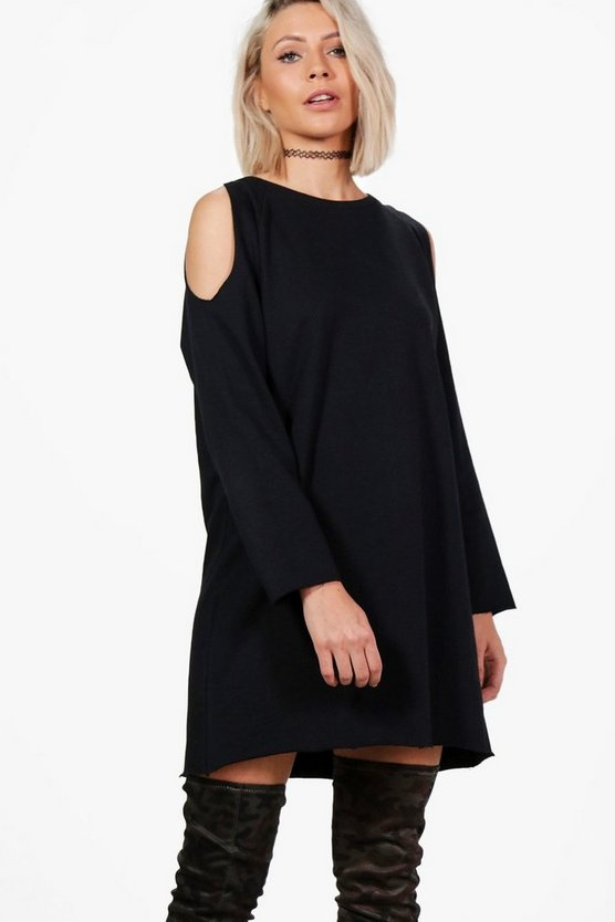 Lily Cold Shoulder Sweat Dress