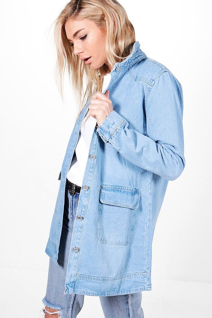 Mia Oversized Denim Shacket