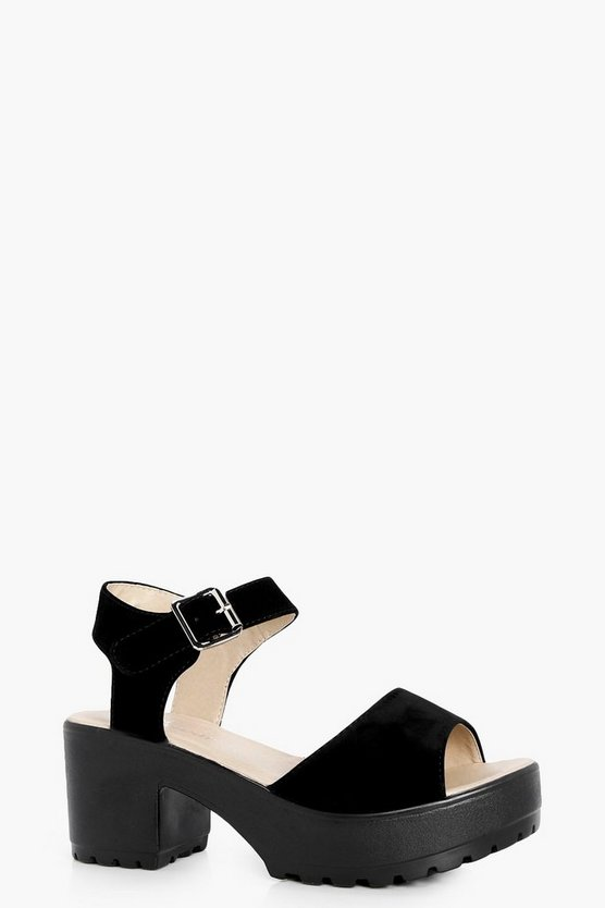 Anna Peeptoe Two Part Cleated Sandal