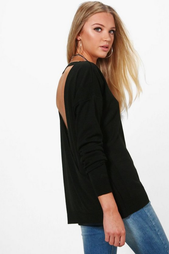 Emily Fine Knit Wrap Back Jumper