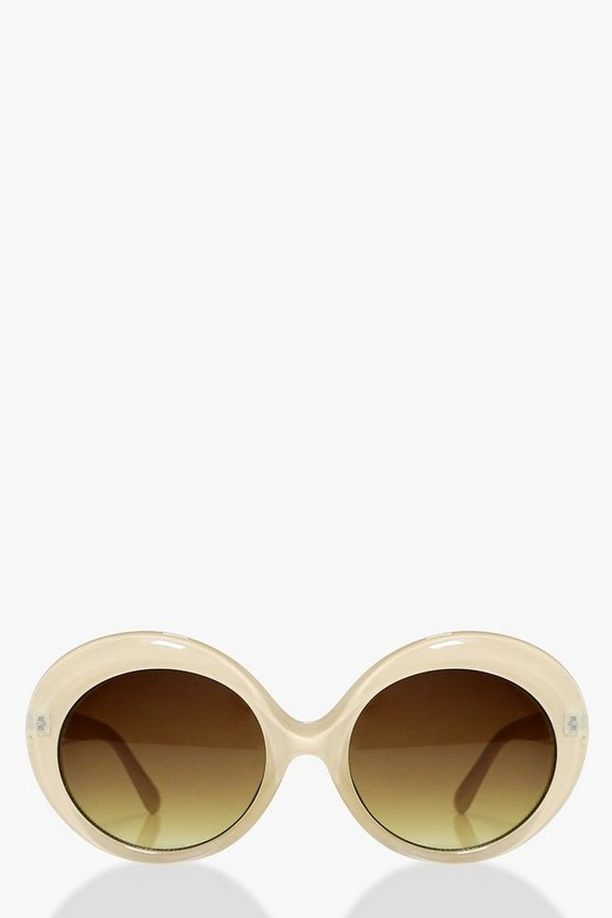 Lucy Faded Lense Round Sunglasses