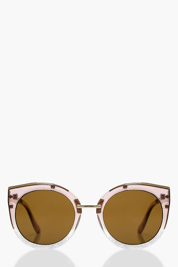 Maisie Clear Frame Cat Eye Sunglasses