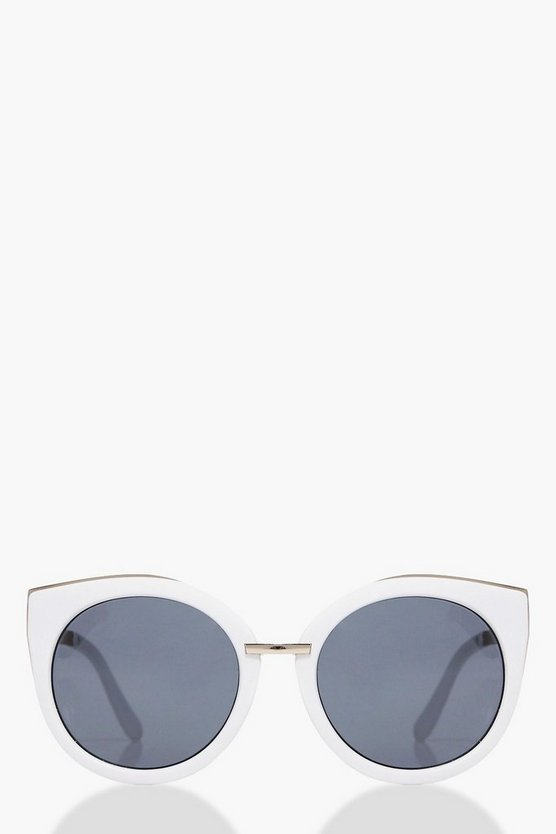 Alice Contrast Frame Cat Eye Sunglasses