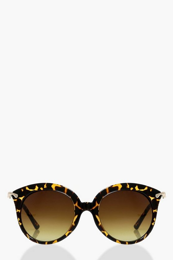Millie Tortoise Minimal Cat Eye Sunglasses