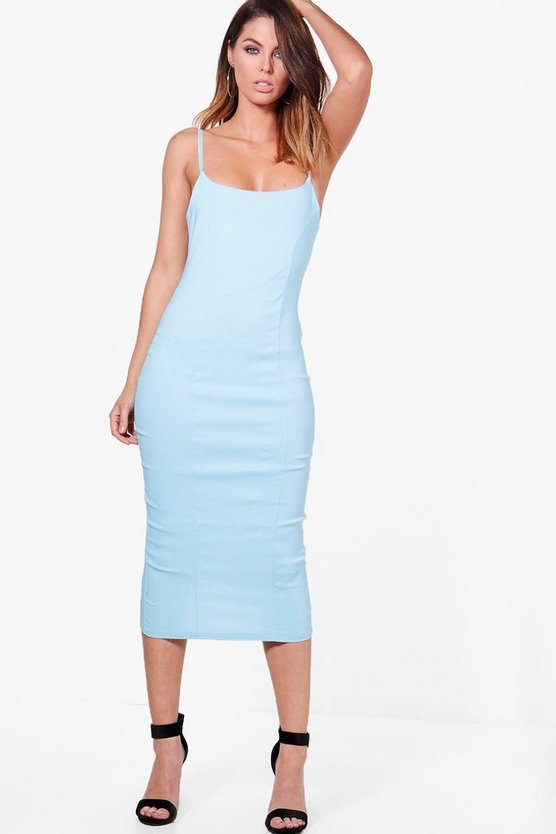 Philly Seam Detail Strappy Midi Dress