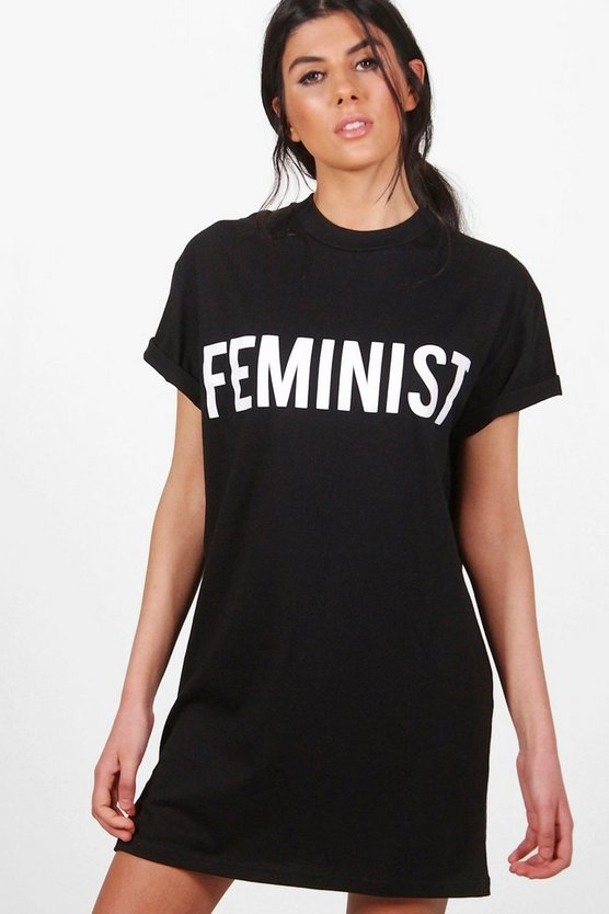 Emma Feminist Slogan T-Shirt Dress
