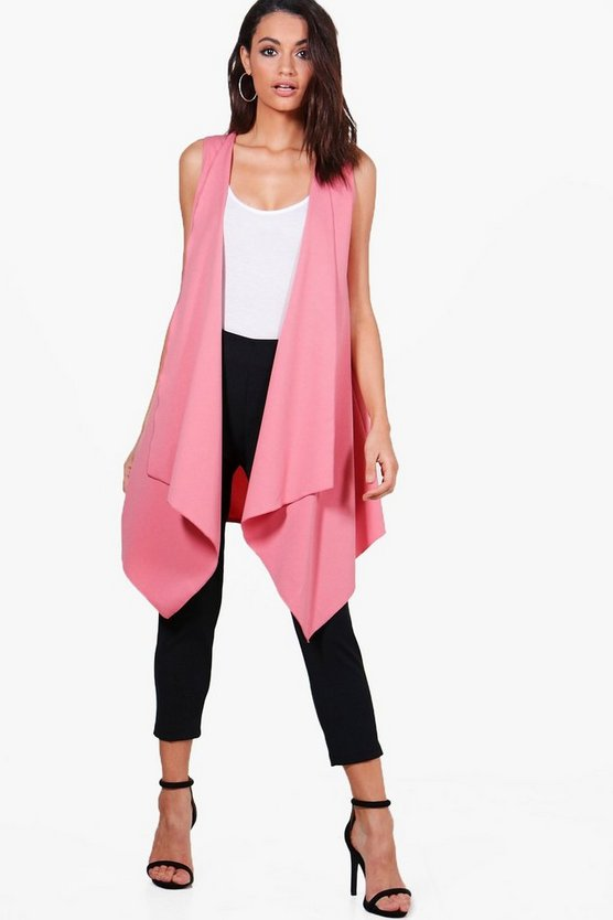 Brooke Waterfall Sleeveless Duster