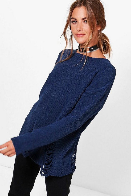Alice Distressed Chenille Jumper