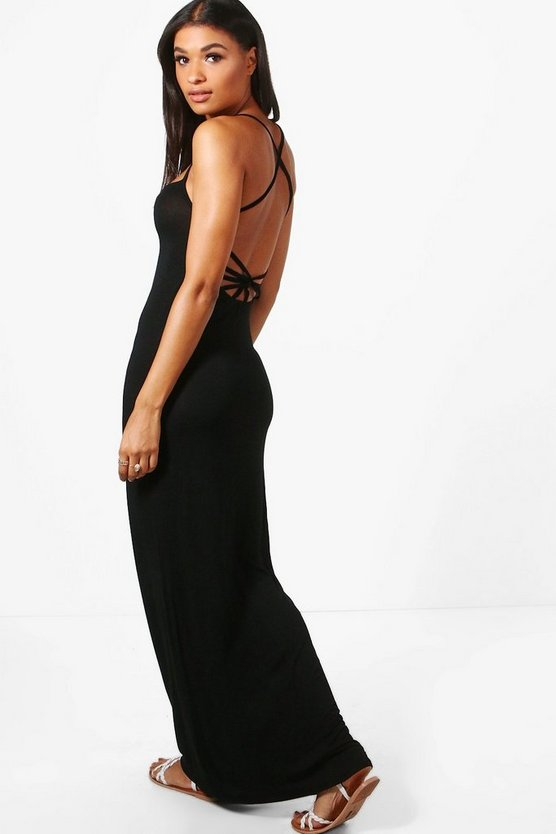 Danielle Cross Back Strappy Maxi Dress