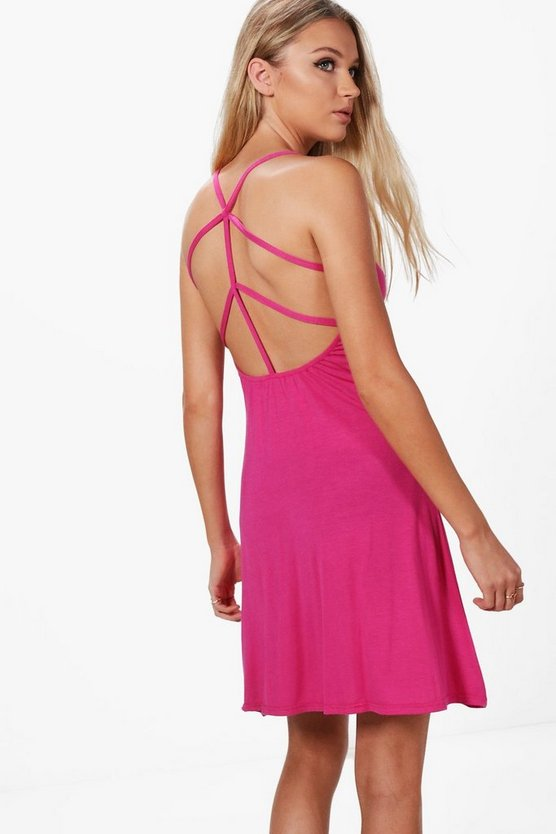 Lucie Strap Detail Mini Dress