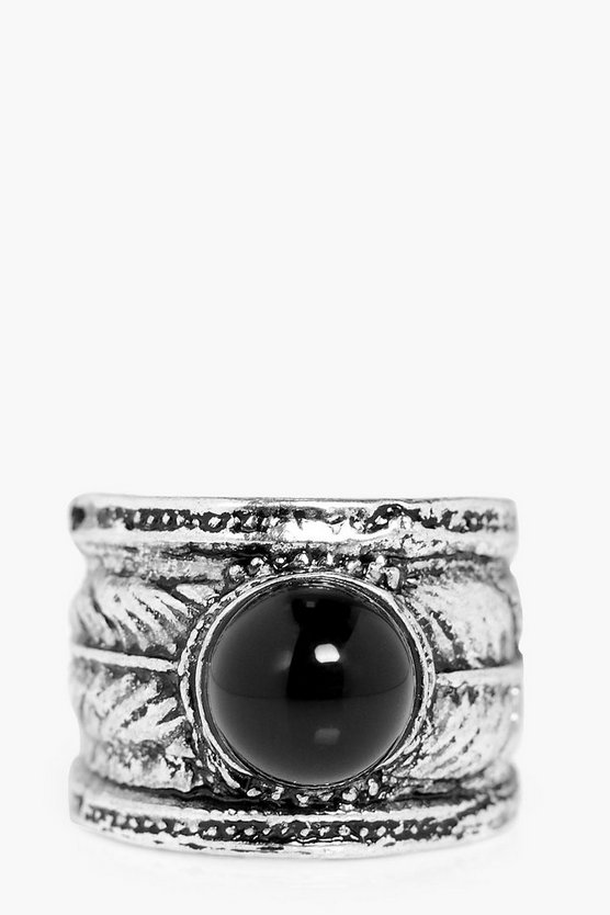 Brooke Boho Stone Adjustable Detail Ring