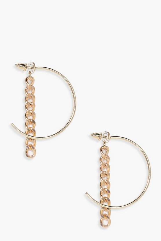 Amelie Hoop & Curb Chain Earrings