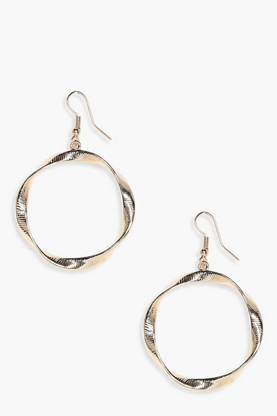 Amber Distorted Hoop Earrings