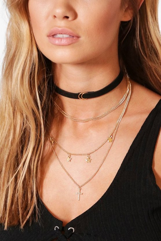 Clara Layered Chain & Suedette Choker Pack