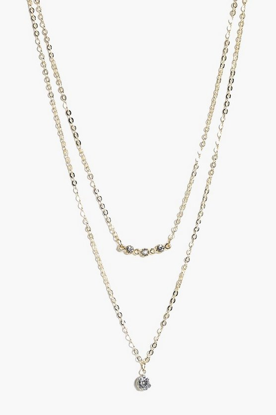 Evie Diamante Constellation Layered Necklace