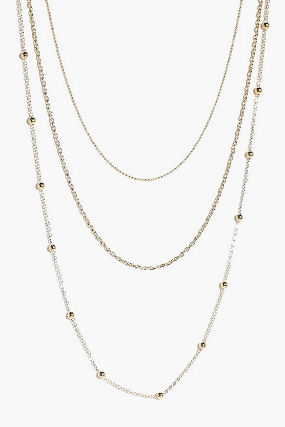 Grace Skinny 3 Layered Necklace