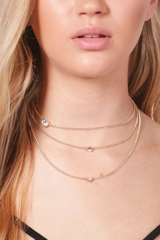 Sophia Diamante Chain Layered Choker