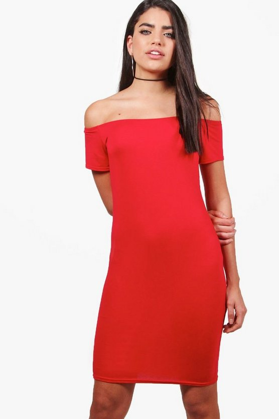 Lucie Cap Sleeve Off The Shoulder Bodycon Dress
