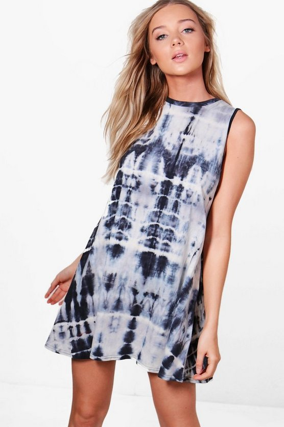 Lucy Tie Dye Drop Armhole T-Shirt Dress