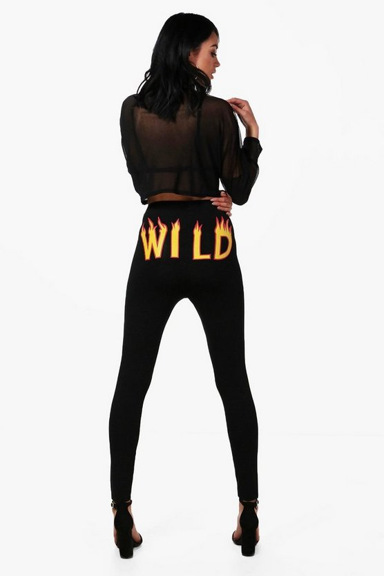 Trixie Wild Flame Print Leggings